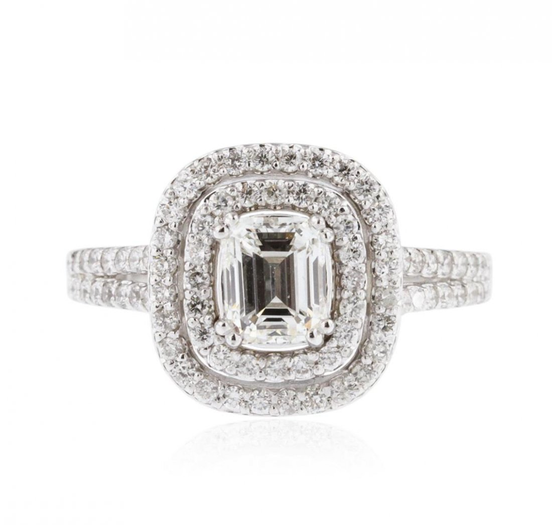14KT White Gold EGL USA Certified 1.82 ctw Diamond Ring