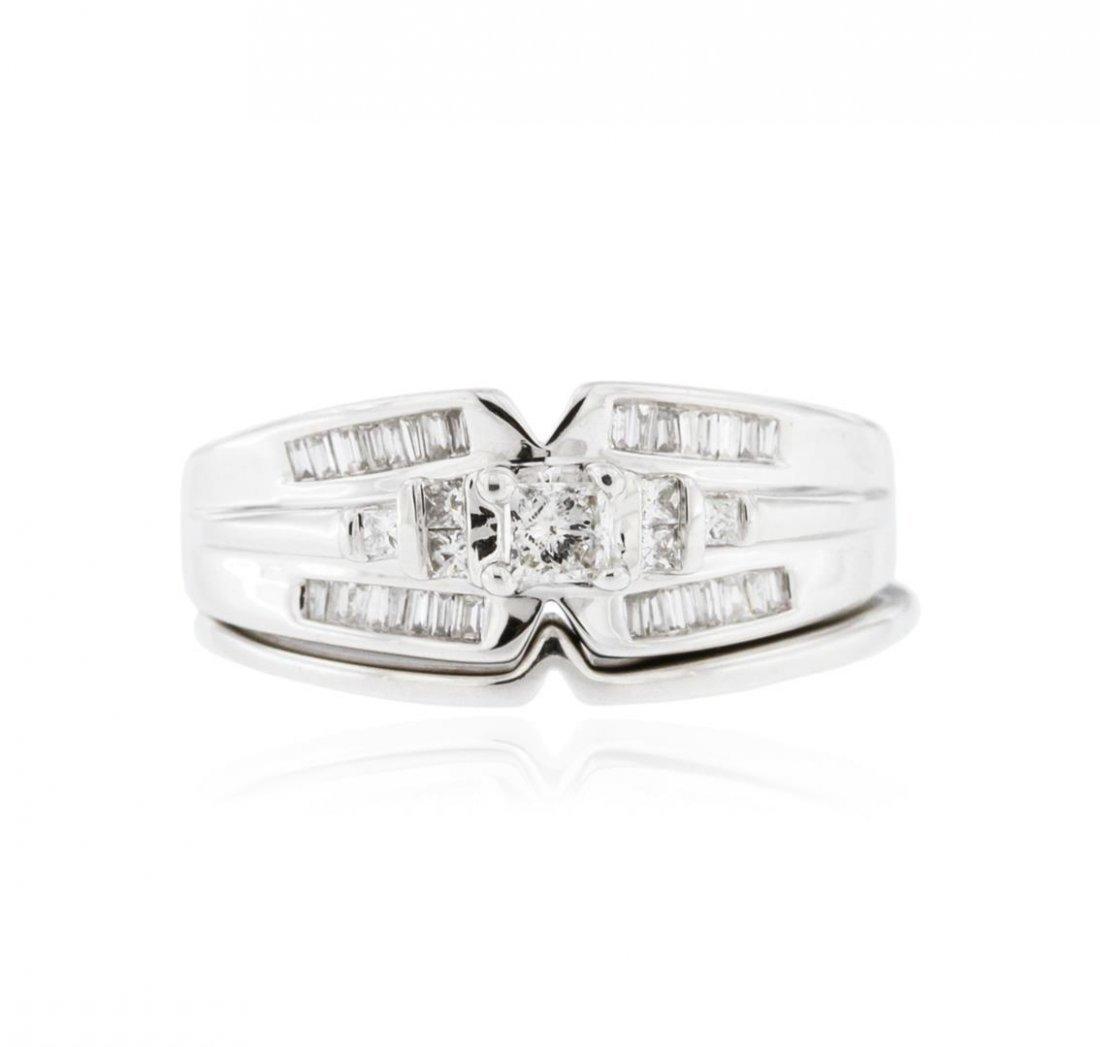 14KT White Gold 0.50 ctw Diamond Wedding Ring Set