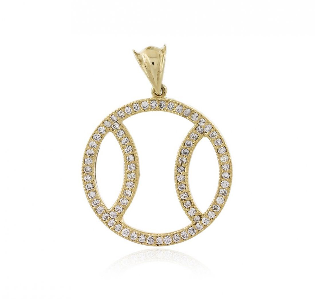 14KT Yellow Gold 1.07 ctw Diamond Pendant