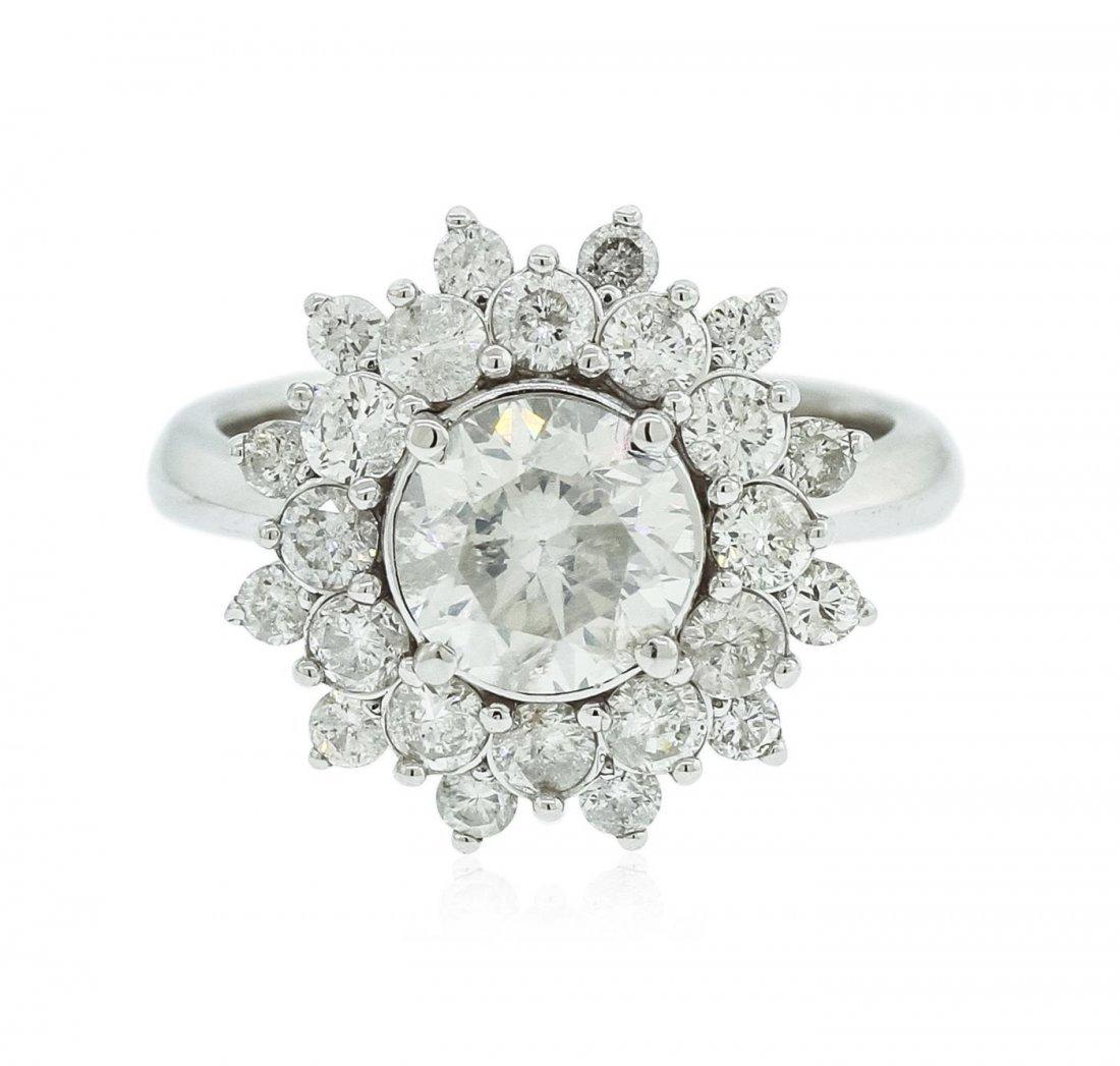 14KT White Gold 1.66 ctw Diamond Ring