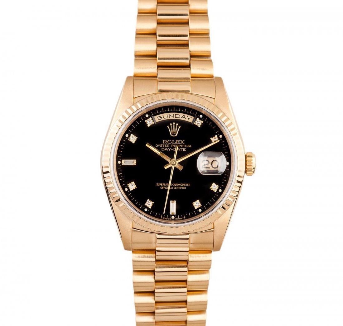 Gents Rolex 18KT Yellow Gold Diamond Presidential Day