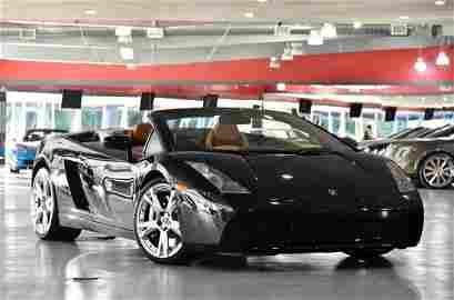 2006 Black Lamborghini Gallardo Convertible