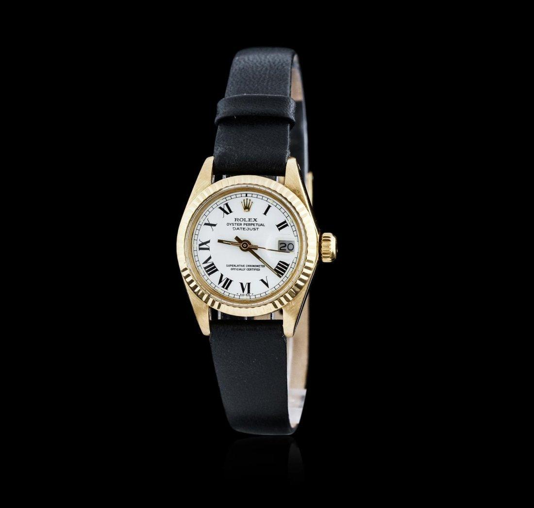 Ladies 18KT Yellow Gold Rolex DateJust Wristwatch