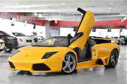 2008 Yellow Lamborghini Murcielago LP640 Convertible