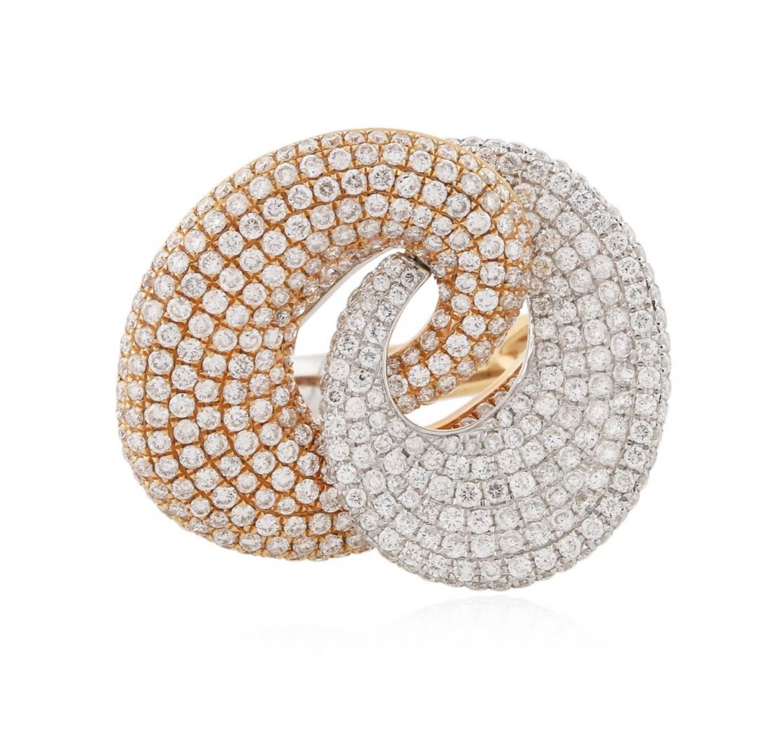18KT Two-Tone Gold 2.24 ctw Diamond Ring