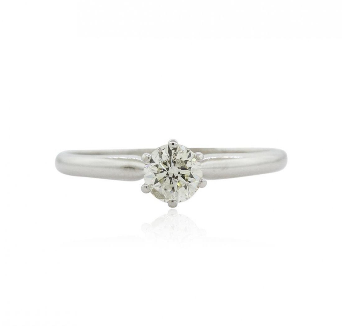 14KT White Gold 0.51 ctw Diamond Solitaire Ring