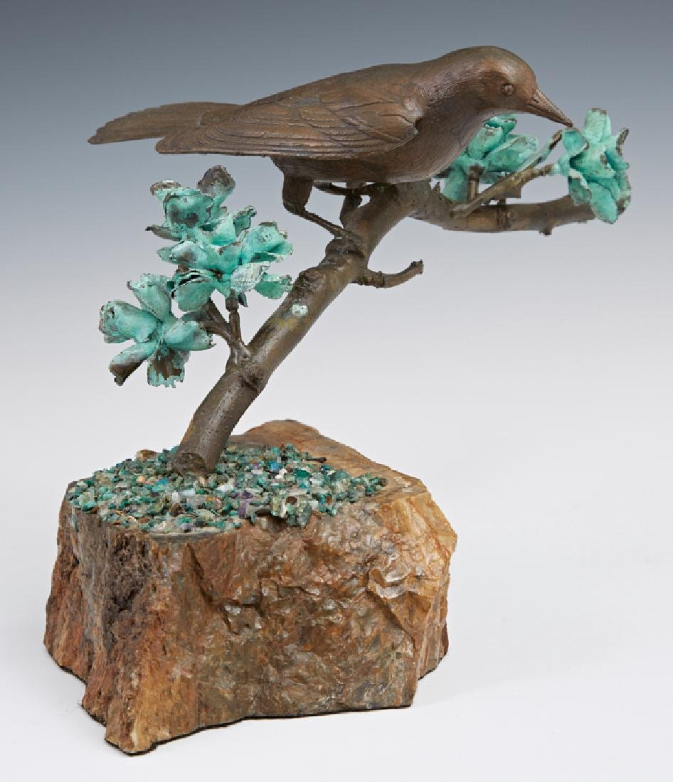 """Rand, """"Bird on a Branch,"""" 1972, patinated bronze on a"""