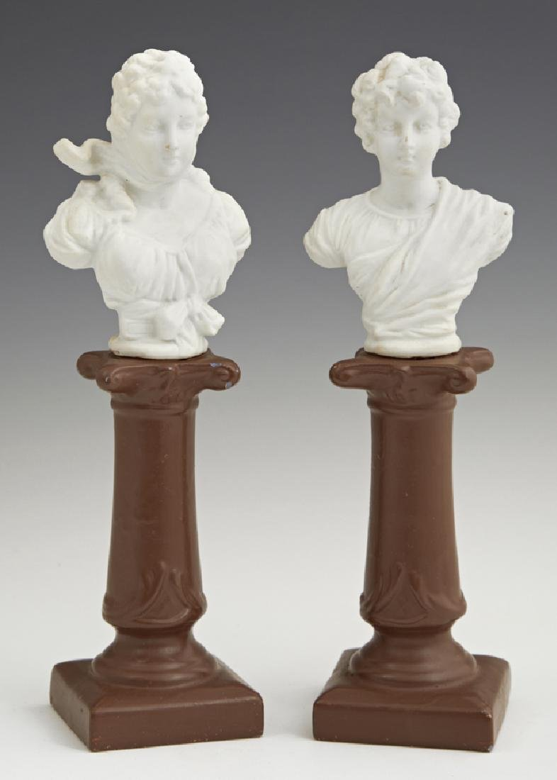Pair of Continental Bisque Busts, early 20th c., on