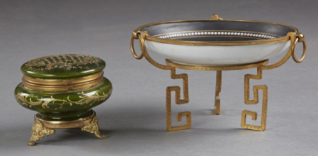 Two Continental Pieces, 19th c., consisting of a bronze