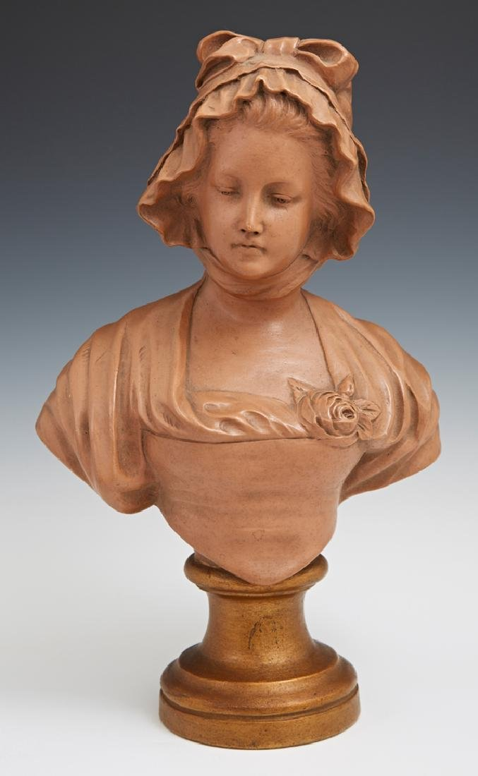 """Richard Aurili (1834-1914), """"Bust of a Young Woman in a"""
