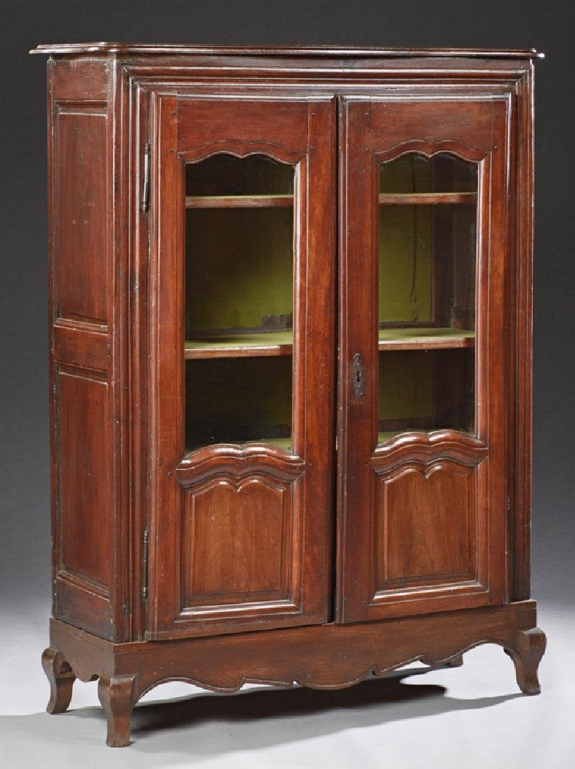 Louis XV Style Carved Oak Bookcase, 19th c., the