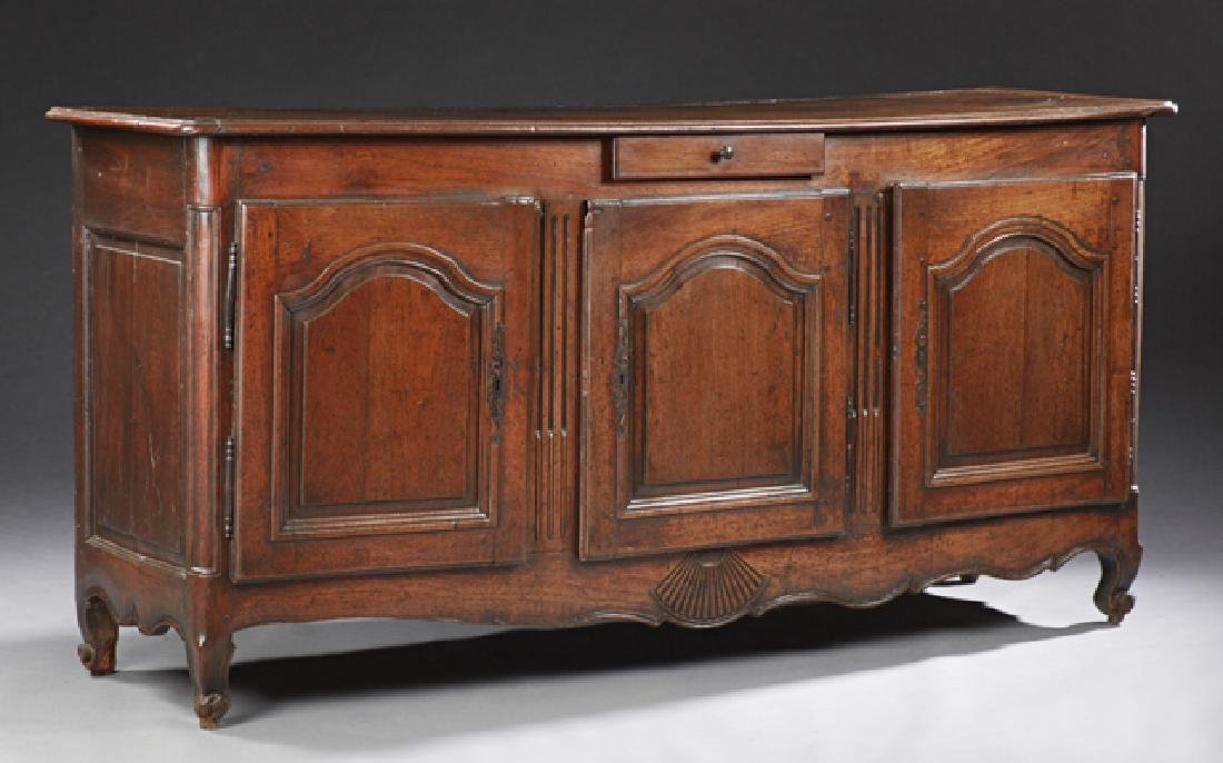 French Louis XV Style Carved Oak Sideboard, 19th c.,