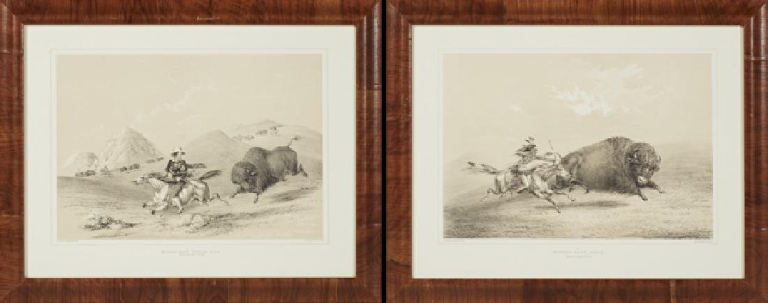 "George Catlin (1796-1872), ""Buffalo Hunt, Chase,"" and"