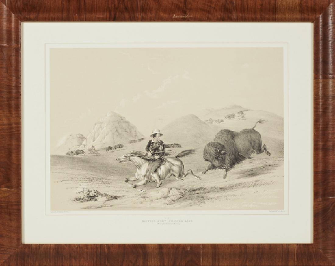 "George Catlin (1796-1872), ""Buffalo Hunt, Chase,"" and - 2"