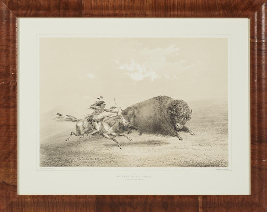 "George Catlin (1796-1872), ""Buffalo Hunt, Chase,"" and - 3"