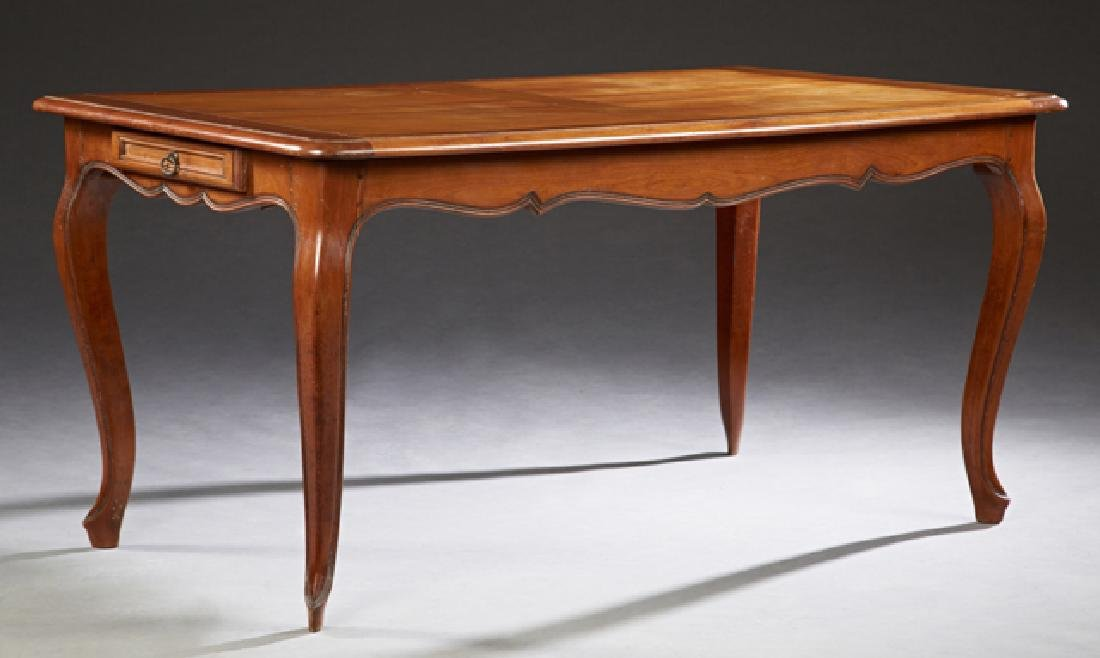 French Louis XV Style Carved Cherry Dining Table, 20th