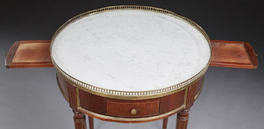 French Carved Mahogany Louis XVI Style Marble Top - 2