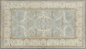 Turkish Angora Oushak Carpet, 5' x 8' 2