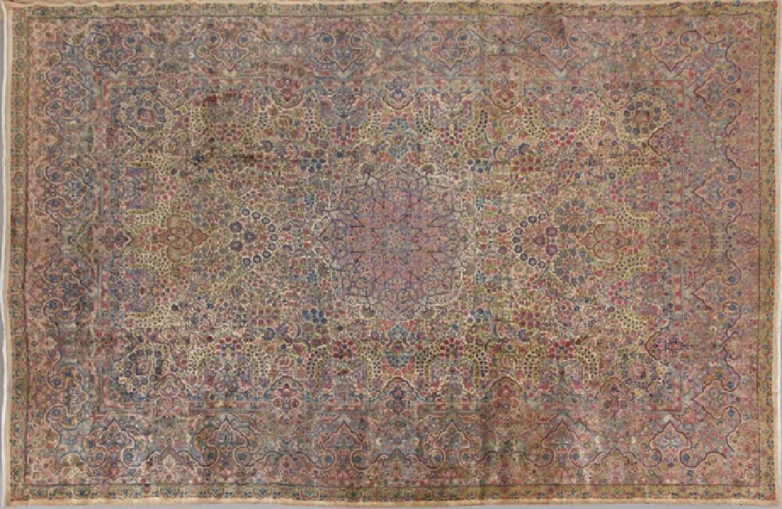 Kirman Carpet, 12' 10 x 18'.