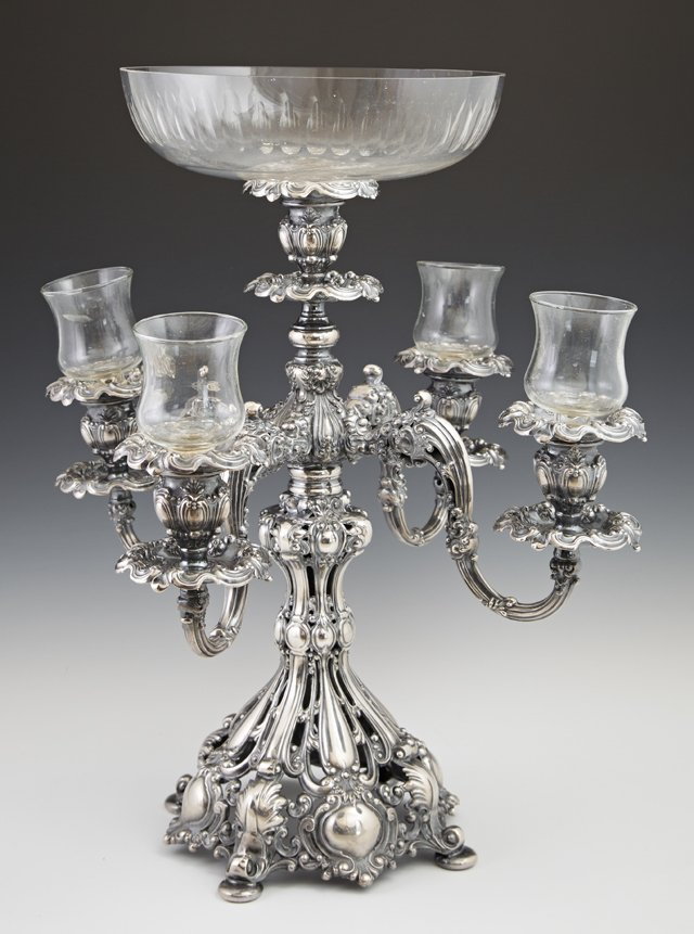 Silverplate Epergne, 20th c., by Reed and Barton, #800,