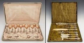 Cased Set of Twelve Sterling Demitasse Spoons, 19th c.,