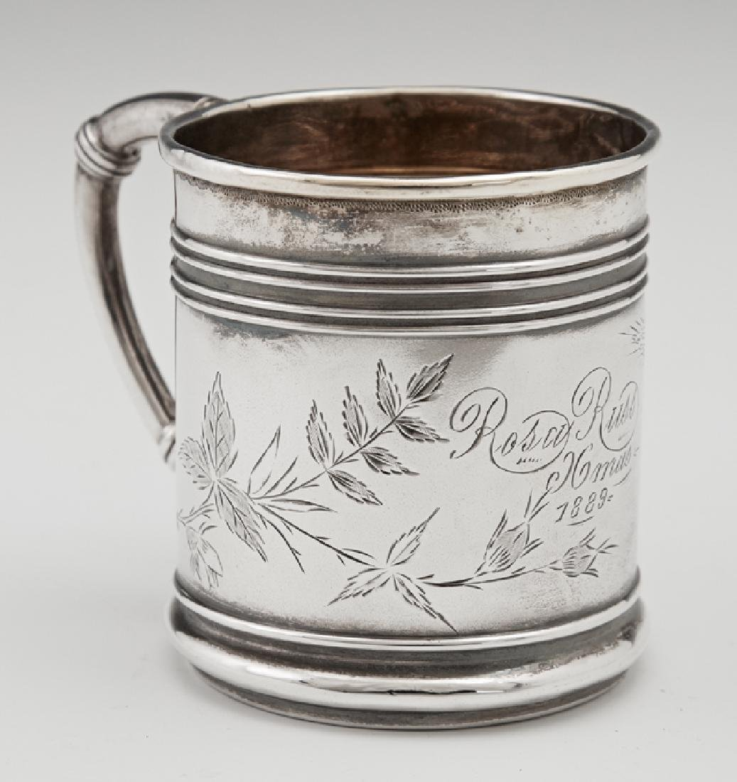 Child's Sterling Cup, 1889, M. Scooler, New Orleans,