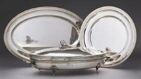 Group of Three Pieces of Silverplate, 20th c.,