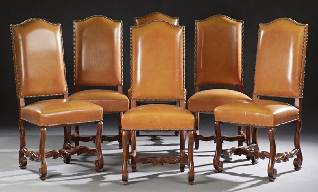 Set of Six French Louis XIII Style Carved Beech
