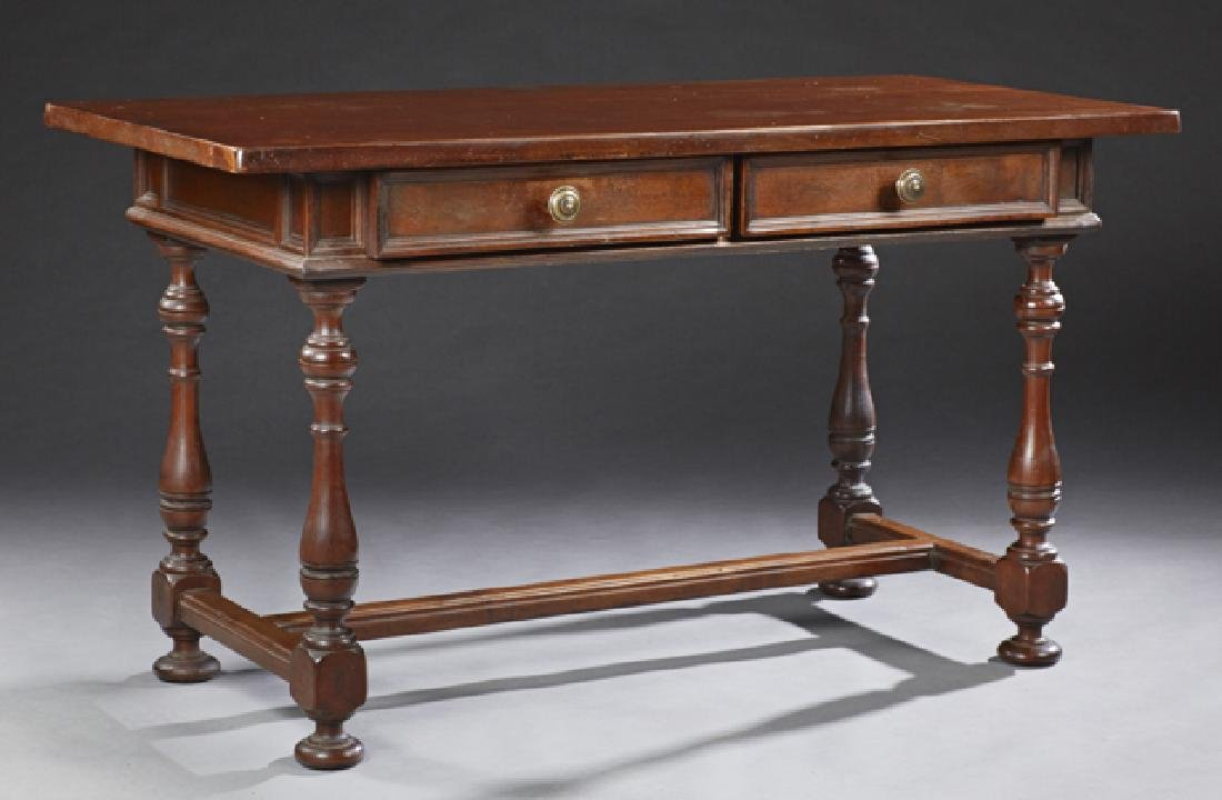 French Carved Walnut Renaissance Style Table, early