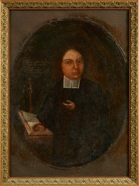 "Continental School, ""Portrait of a Cleric,"" early 19th"