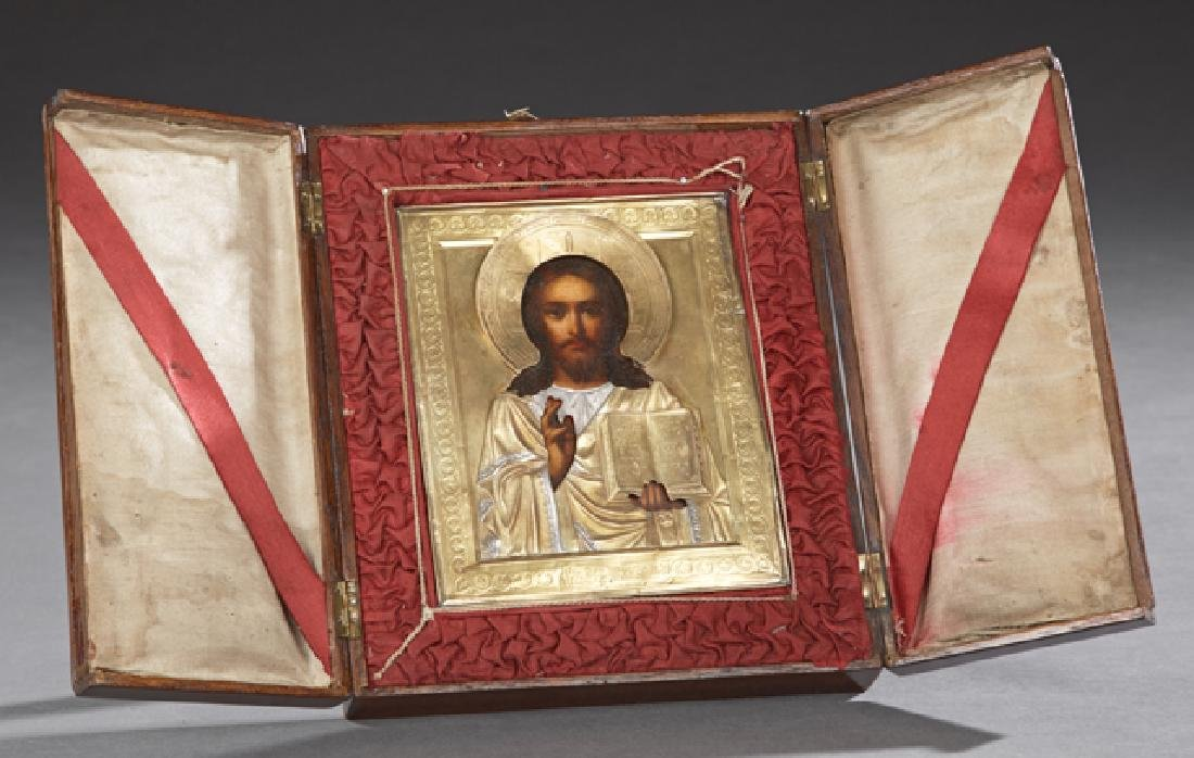 Russian Icon of Christ Pantocrator, late 19th c.,