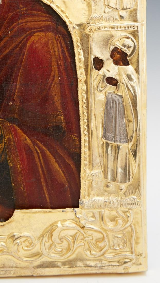 Russian Icon of the Virgin of Vladimir, Moscow, 1855, - 4