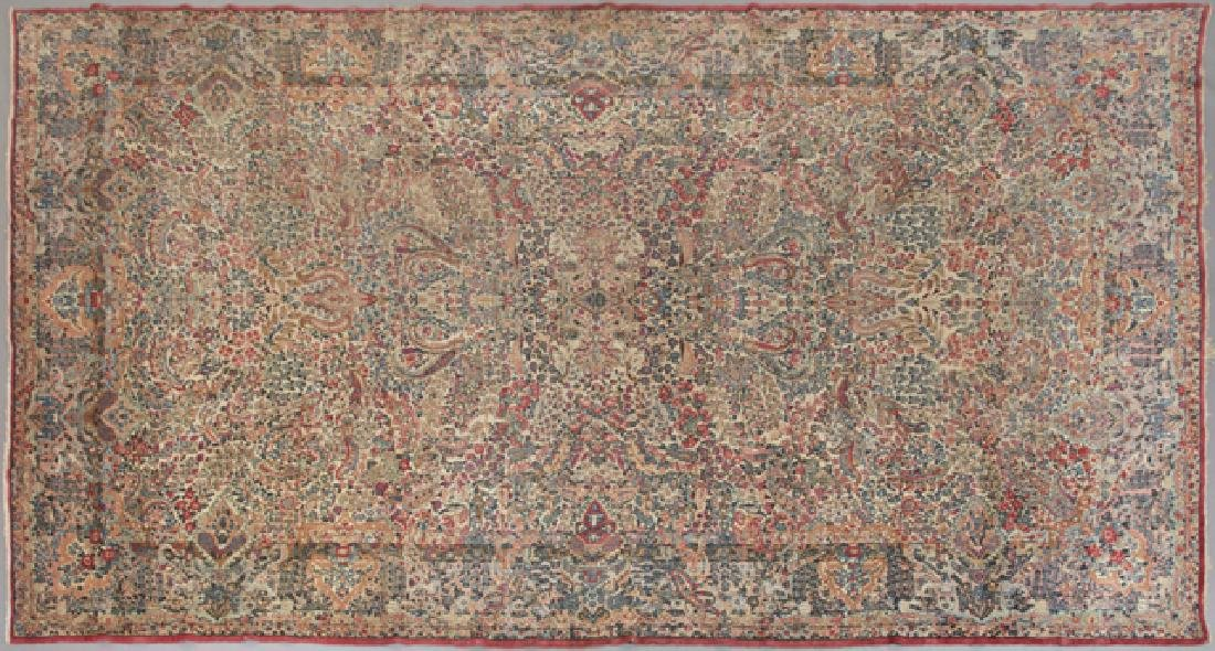 Semi Antique Kirman Carpet, 10' 9 x 17' 5