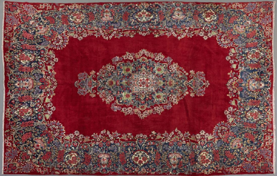 Semi Antique Persian Kirman Carpet, 8' 9 x 12' 6.