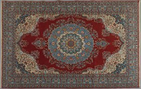 Persian Tabriz Carpet, 8' 9 x 12' 10.