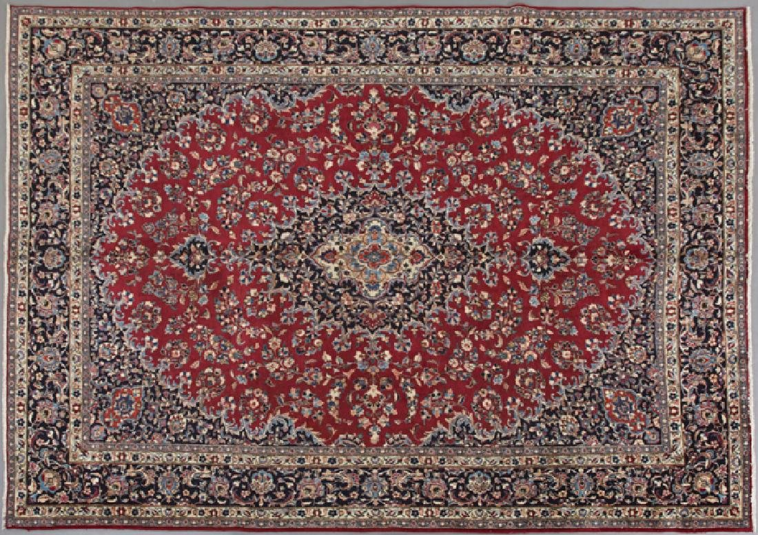 Semi Antique Persian Mashad Carpet, 9' 3 x 12' 7