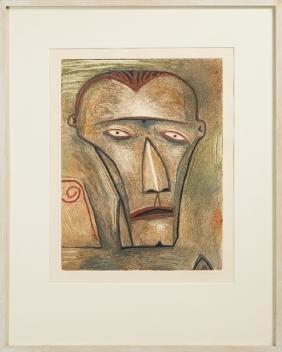 "Robert Gordy (1933-1986, Louisiana), ""Male Head"", 1984,"