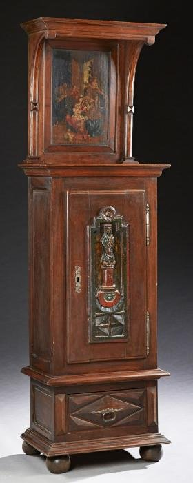 Unusual French Carved Cherry Cabinet, 19th c., the