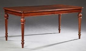 English Victorian Style Carved Mahogany Dining Table,