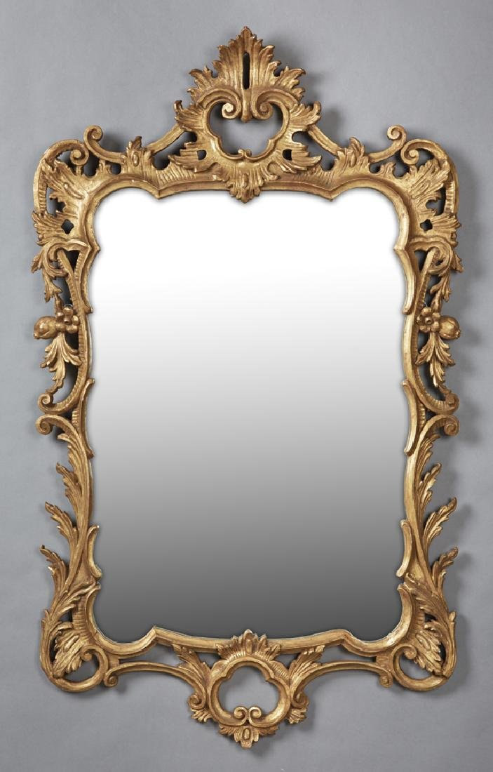 Continental Gilt and Gesso Overmantle Mirror, late 19th