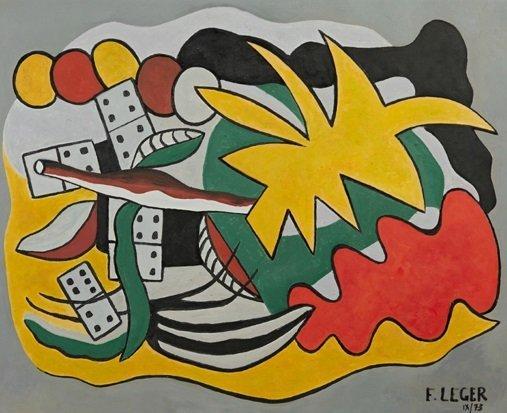 """After Fernand Leger ( -1955), """"Composition aux"""