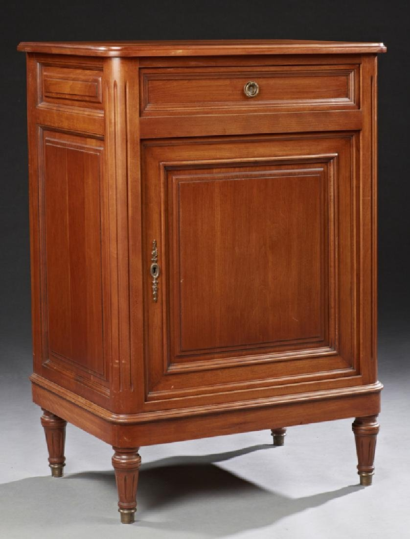 French Louis Philippe Style Carved Cherry Confiturier,
