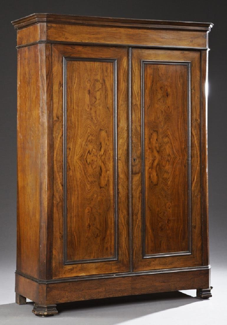 Louis Philippe Carved Walnut Double Door Armoire, 19th