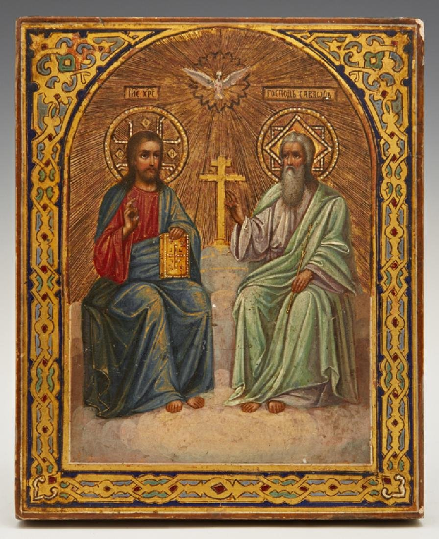 Russian Icon of the New Testament Trinity, early 20th