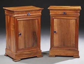 Pair of French Louis Philippe Carved Walnut