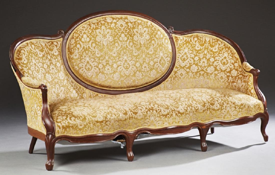 Three Piece French Louis XV Style Carved Mahogany - 3