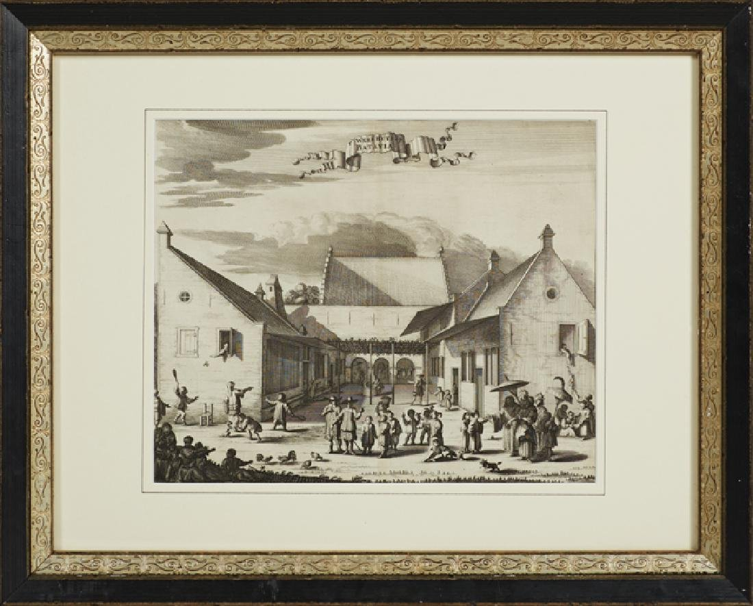Group of Three Black and White Dutch Prints, 19th c., - 2