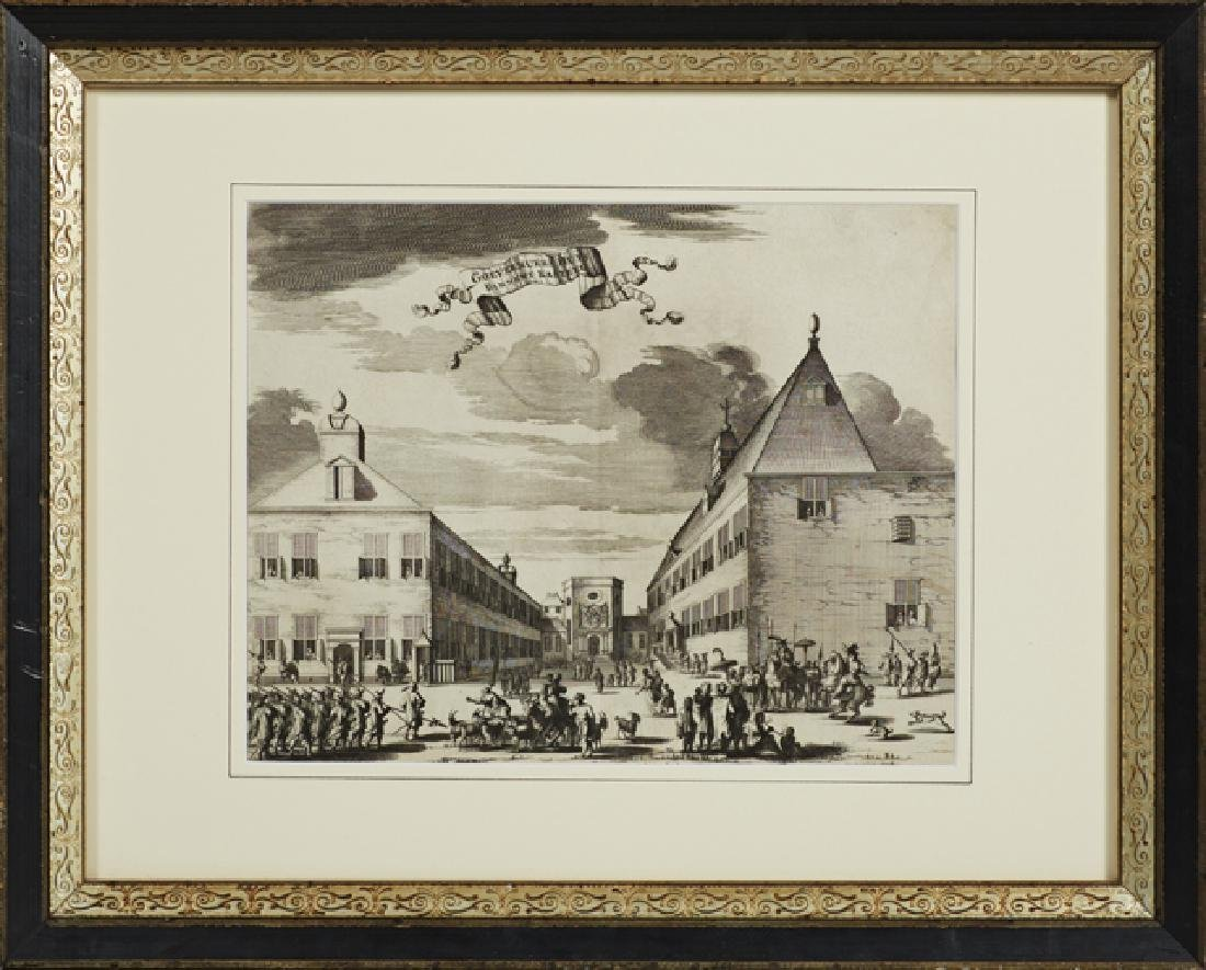 Group of Three Black and White Dutch Prints, 19th c., - 3