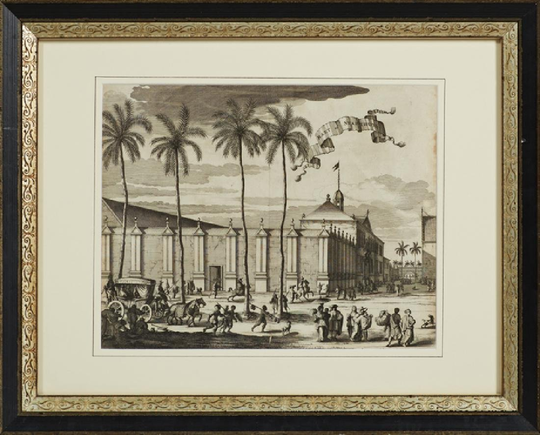 Group of Three Black and White Dutch Prints, 19th c., - 4