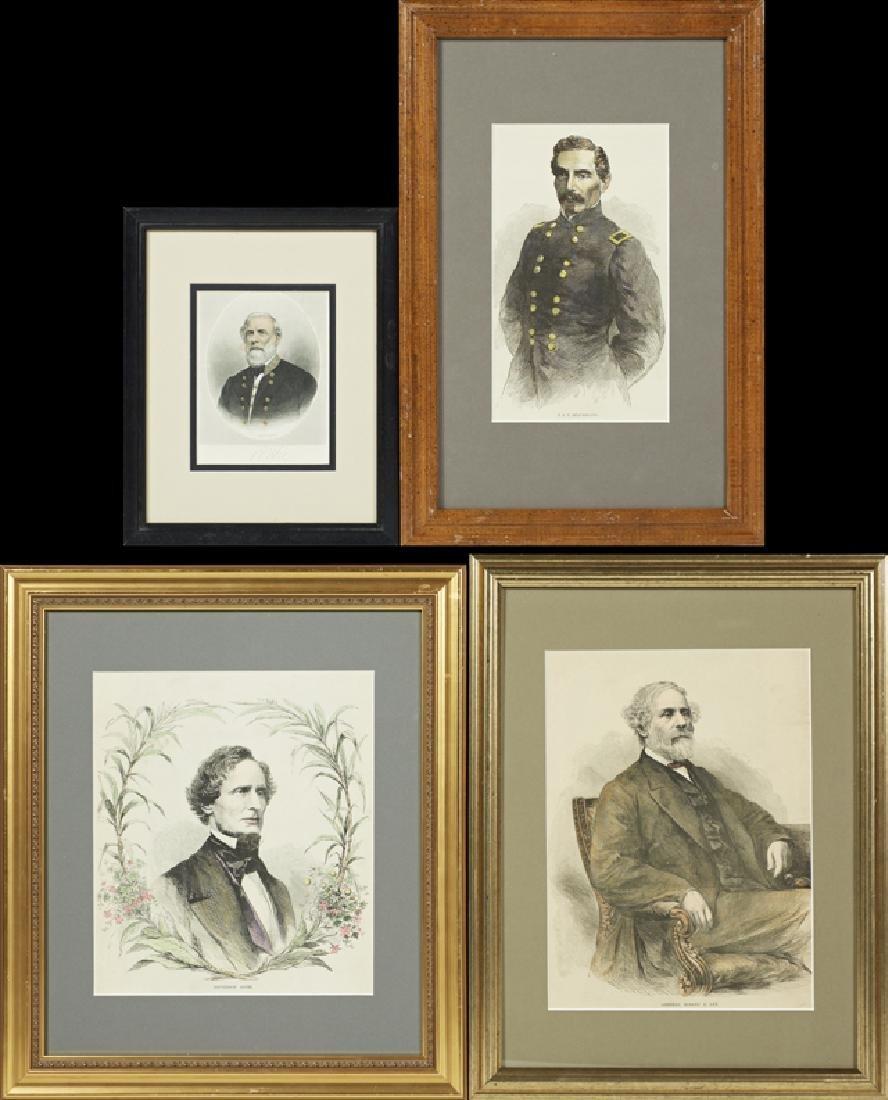 Four Portraits of Confederate Luminaries, 19th c., of